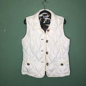 Talbots Duck Down Puffer Vest Size Medium